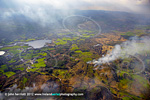 Gorse fires from the air