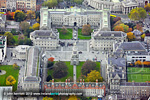 Trinity College autumn aerial photograph