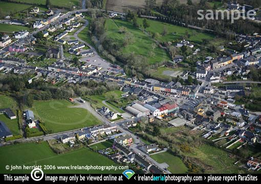 Aerial view of Dunmanway town centre