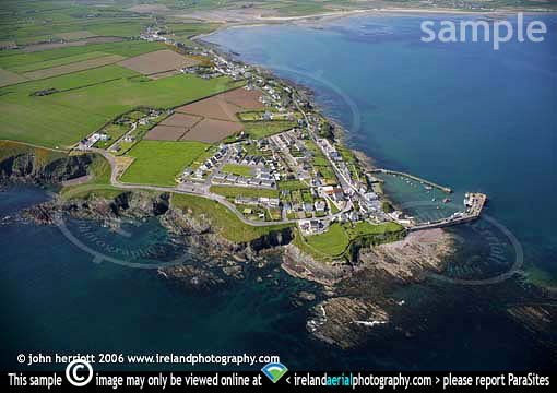 Ballycotton aerial view from the sea