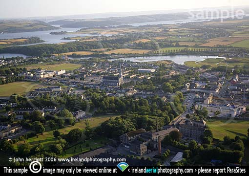 Midleton Distillery and Cork Harbour aerial photo