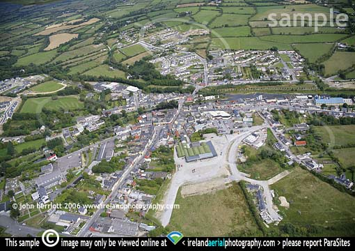 Above Kanturk in North Cork aerial view