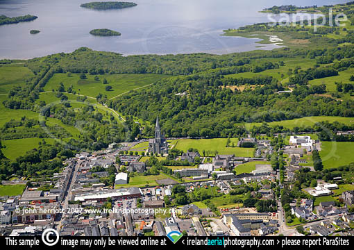 Killarney National Park Aerial Picture Town And Lake