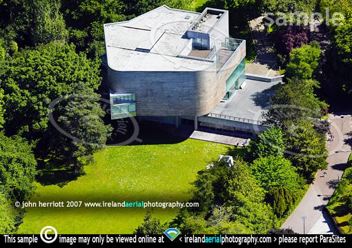 glucksman gallery aerial view  university college cork  ucc