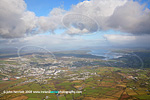 Letterkenny County Donegal aerial view to Lough Swilly