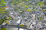 Letterkenny aerial photo. National winner of Tidy Towns 2015
