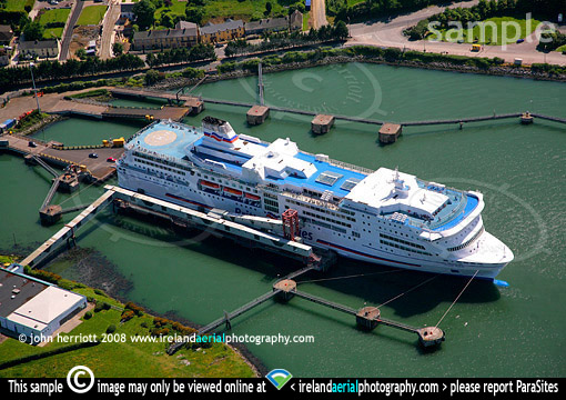 ringaskiddy aerial photograph of pont aven ferry operated by brittany ferries on cork roscoff. Black Bedroom Furniture Sets. Home Design Ideas